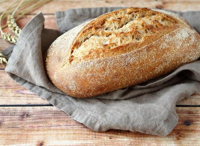 loaf of unsliced fresh baked bread