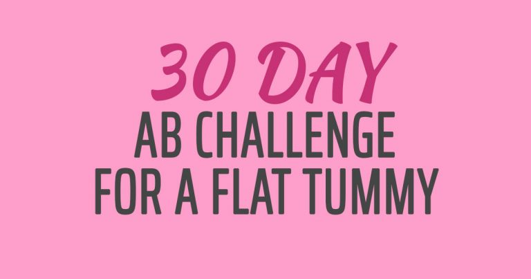 The 30-Day Ab Challenge For A Flat Tummy