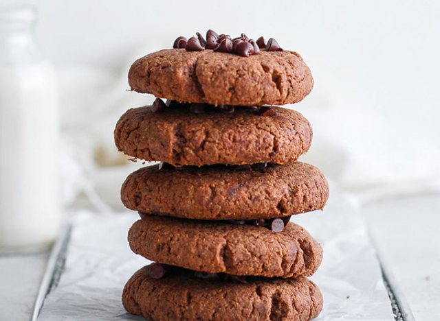 Chocolate protein powder cookies