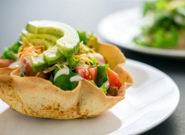 Taco bowl shell