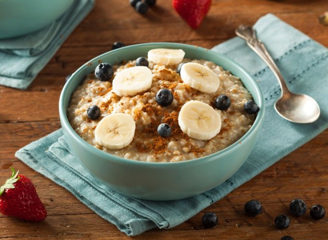 Instant microwave oatmeal
