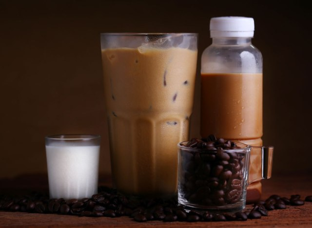 Bottled iced coffee drink