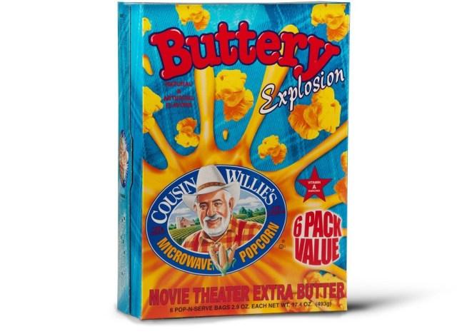 cousin willies butter popcorn