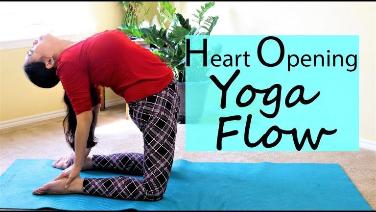 10 Minute Heart Opening Yoga Flow For Tight Chest and Shoulder Muscles