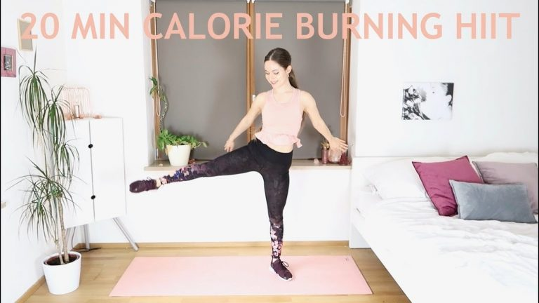 20 Min Calorie Burning HIIT Workout ❤ At Home & For All Levels