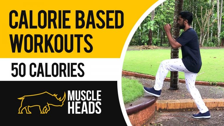 How to burn 50 calories in 8 minutes   Calorie based workout series for beginners   Muscle Heads
