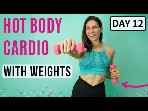 Day 12 | Cardio Calorie Burn | At Home, Dumbbells | FREE 30 Day Workout Plan