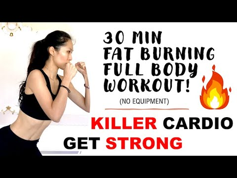 30 MINUTE FAT BURNING FULL BODY CARDIO WORKOUT- BURN Calories, ACHIEVABLE STRENGTHENING No Equipment